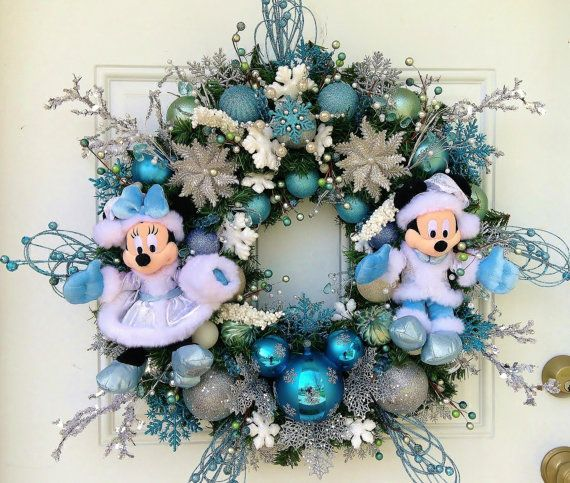 Disney Christmas Wreath with Mickey and by SparkleForYourCastle, $209.00