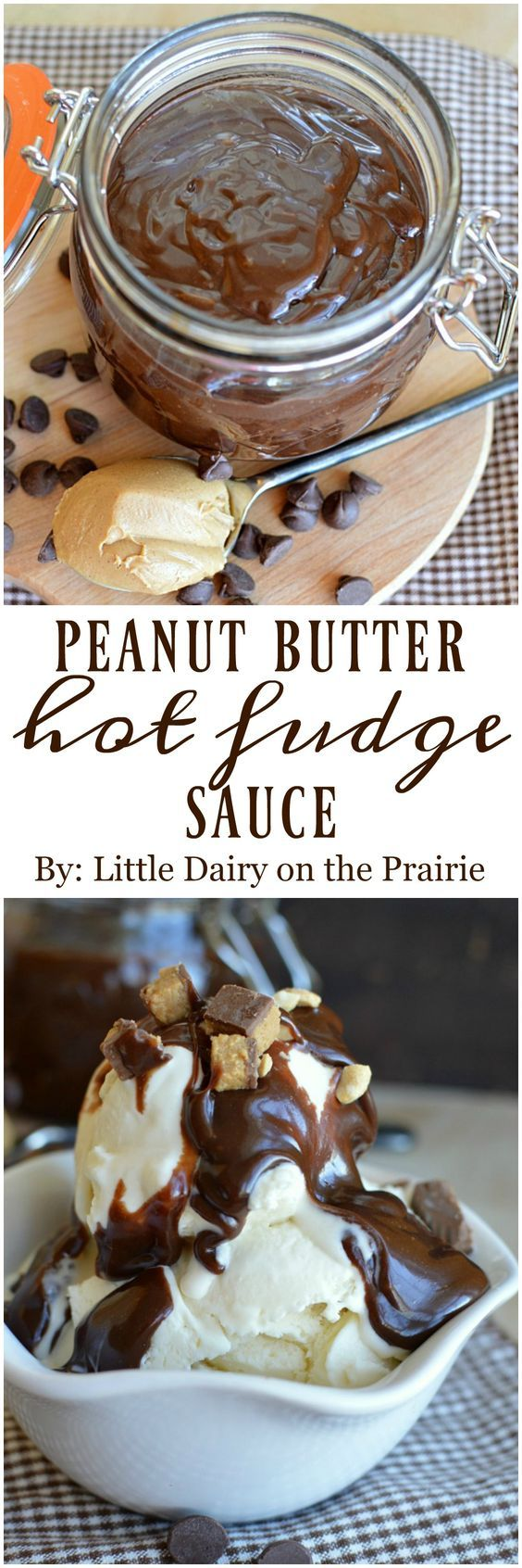 Peanut Butter Hot Fudge Sauce is the reason I eat ice cream! Heck, I won't judge you if you just grab a spoon eat it straight from the jar!
