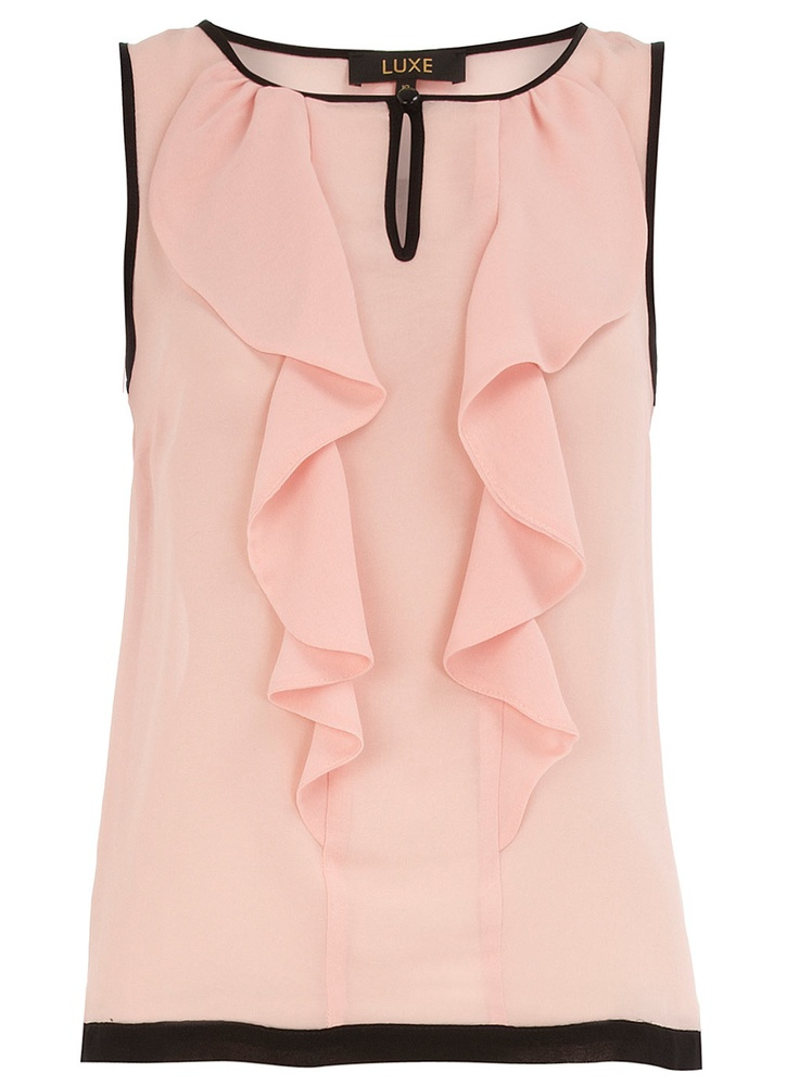 Blush piped ruffle top  #DorothyPerkins