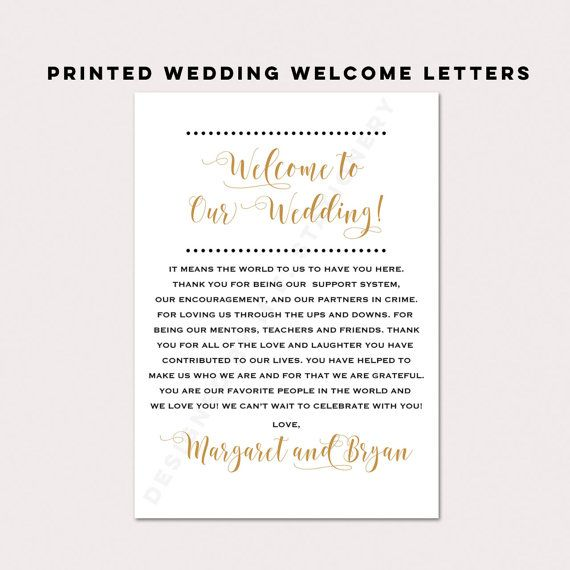 Wedding Welcome Card Wedding Welcome Letter Thank by DesignedByME
