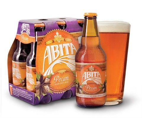 Cerveja Abita Pecan Harvest Ale, estilo American Brown Ale, produzida por Abita Brewing Company, Estados Unidos. 5.2% ABV de álcool.