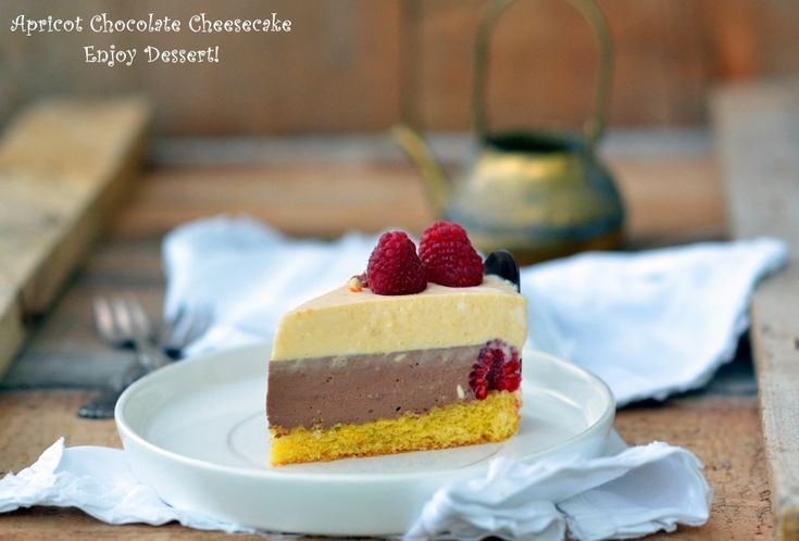 Apricot Chocolate Cheesecake
