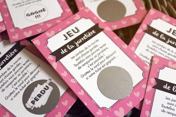 25 cartes à gratter jeux de la jarretiere mariage jeu pour les