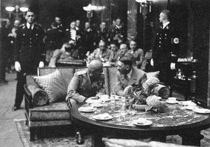 Benito Mussolini and Adolf Hitler