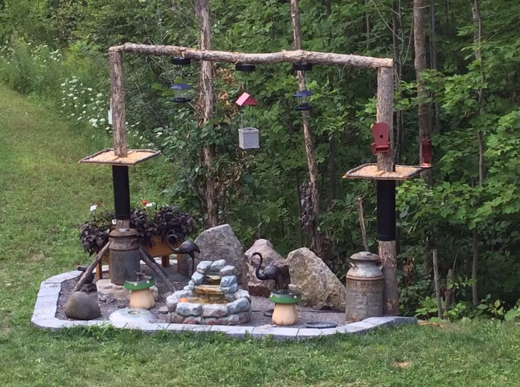 Our bird feeding station