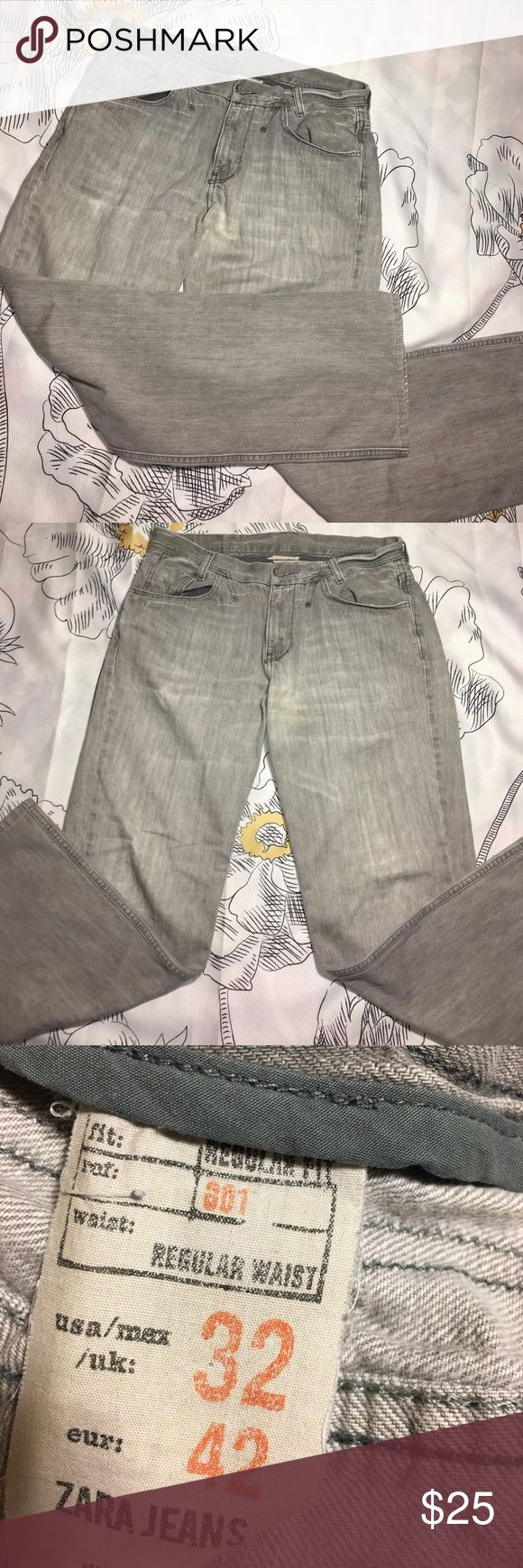 Zara Jeans Regular Fit x Waist 32 x Denim Size 32 - great condition Zara Jeans