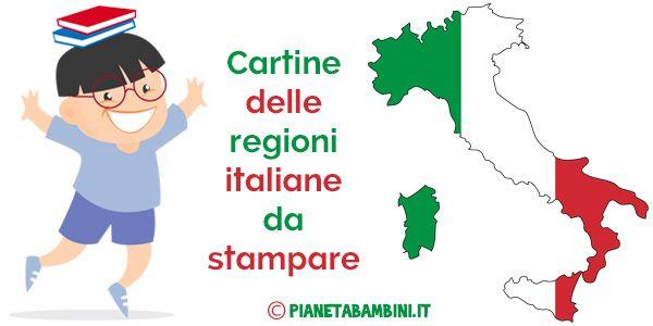 Cartine Regioni Italiane Stampare
