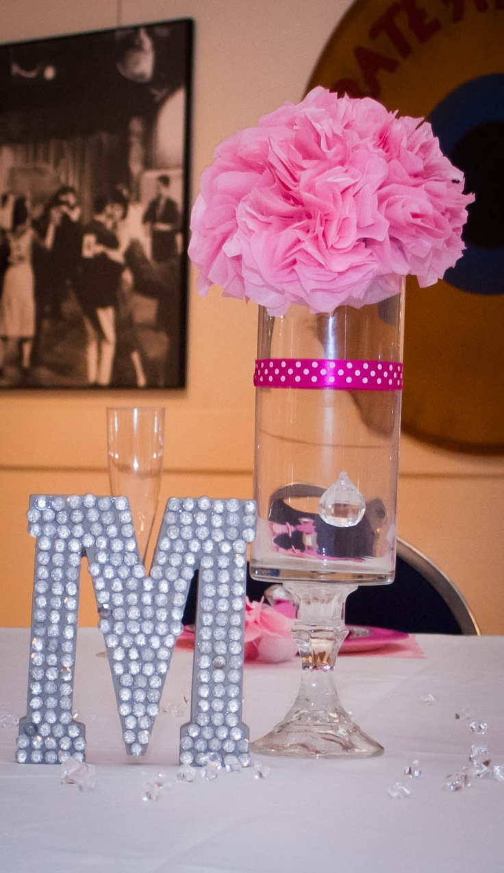 Tissue Paper Centerpieces Like The Letter On The Table