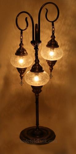 Turkish Style Transparent Glass Floor Lamp - mediterranean - floor lamps - - by Hedef Aydınlatma