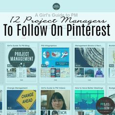 There's a big project management community on Pinterest. I call out 12 of the best pinners to follow, all of whom are sharing great content about project management, change management, tools and collaboration.