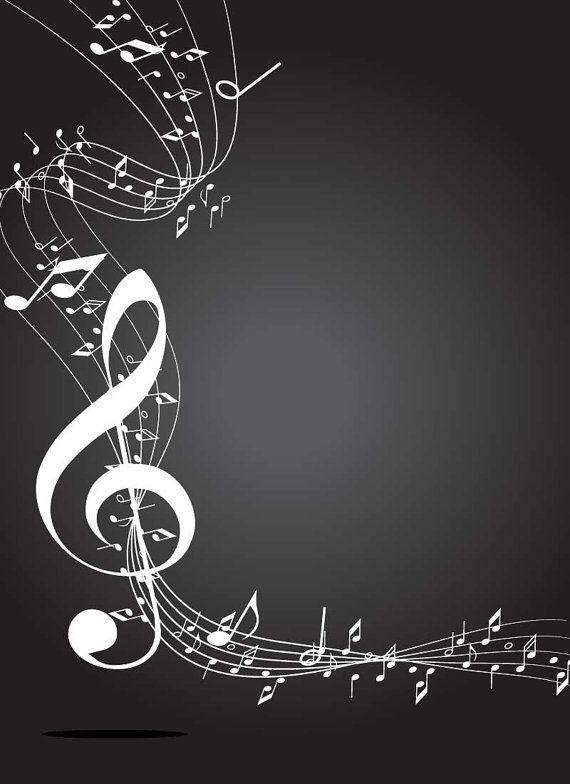 Note border key frame Digital Clip art Musical by vector76 on Etsy