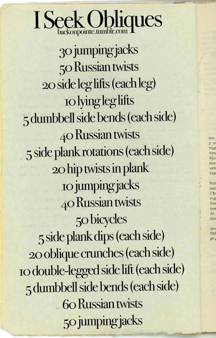 great ab workout, but i'm going to have to google some of these