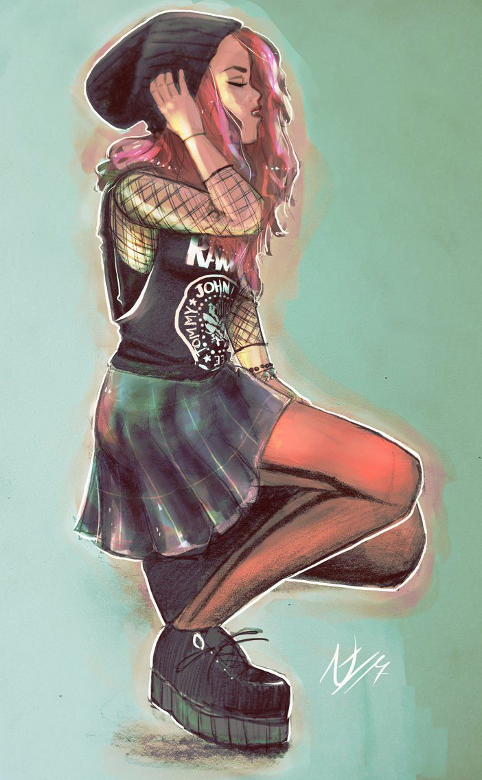 Peachy Punk by thalle-my-honey