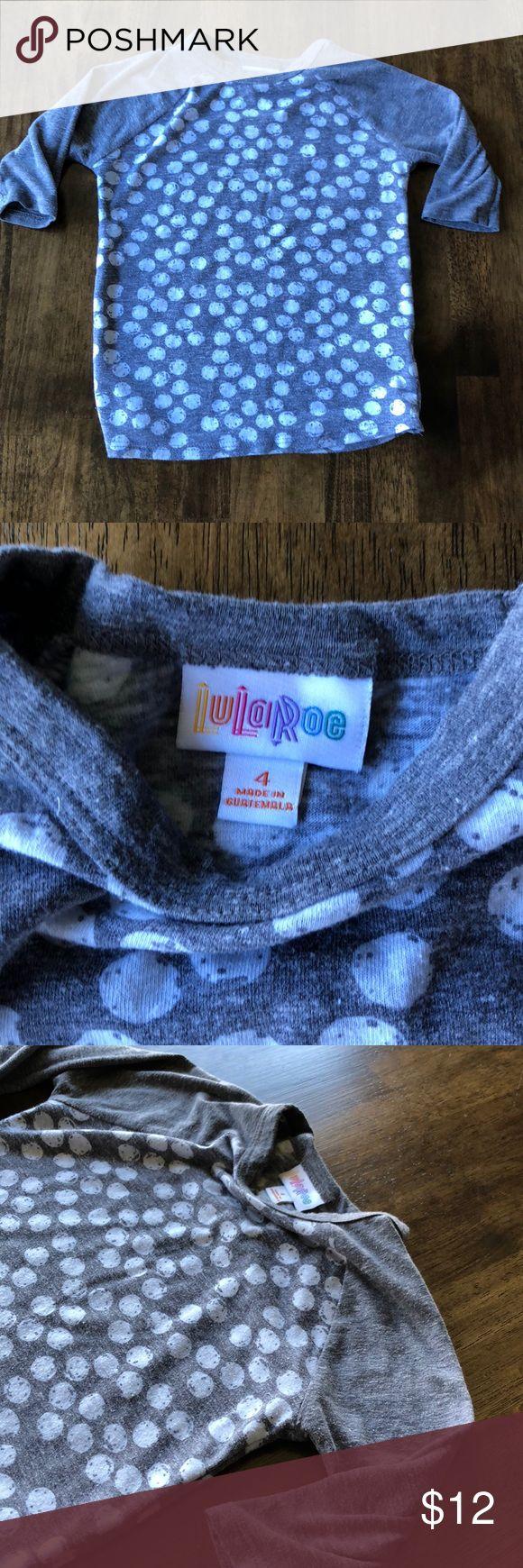 Kids LulaRoe shirt- like new Size 4 and only worn a handful of times! Like new :) LuLaRoe Shirts & Tops Tees - Long Sleeve