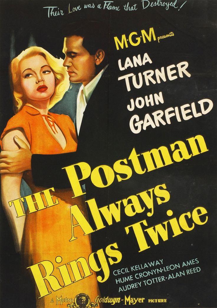 """The Postman Always Rings Twice"" (1946) Starring Lana Turner and John Garfield"
