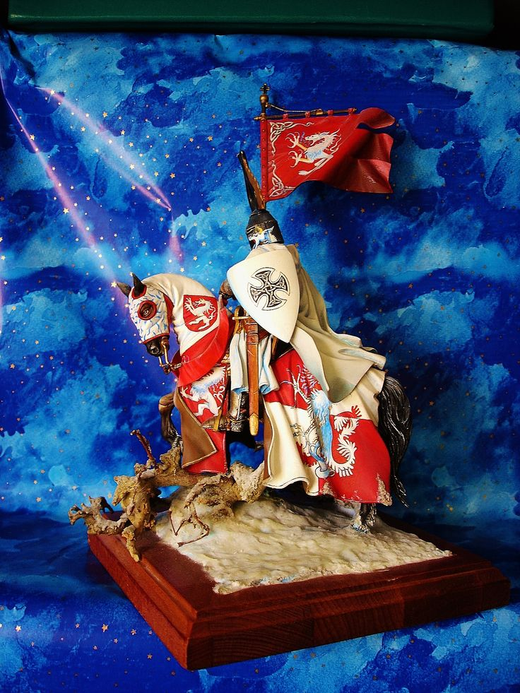"Miniature kit 90mm "" GrandMaster of Teutonic  Order"" Painted by Francesco Pezzolini"