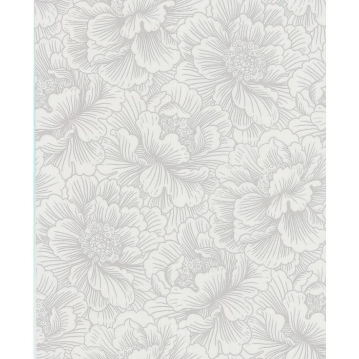 Superfresco Easy White Grey Paper Floral Wallpaper 30 432 Bathroom WallpaperTextured