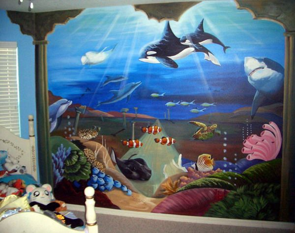 murals a collection of ideas to try about art beach. Black Bedroom Furniture Sets. Home Design Ideas