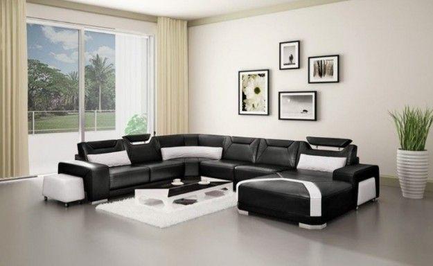 Divano nero - Come abbinare il divano nero alle pareti.