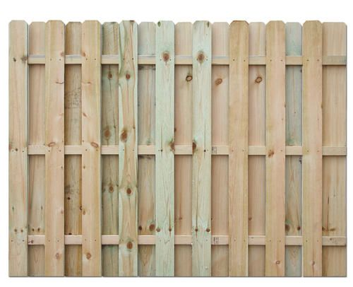 6 H X 8 W Shadow Box Ac2 Treated Fence Panel At Menards