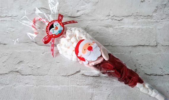 Santa Sweet Cone Christmas Eve Box Kids Stocking Filler