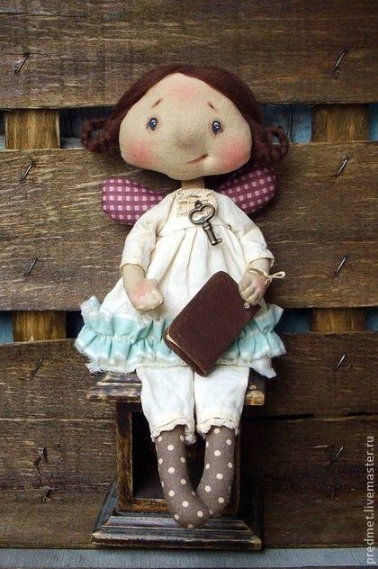 Collectible handmade dolls.  Fair Masters - handmade girls pripevochka.  Handmade.