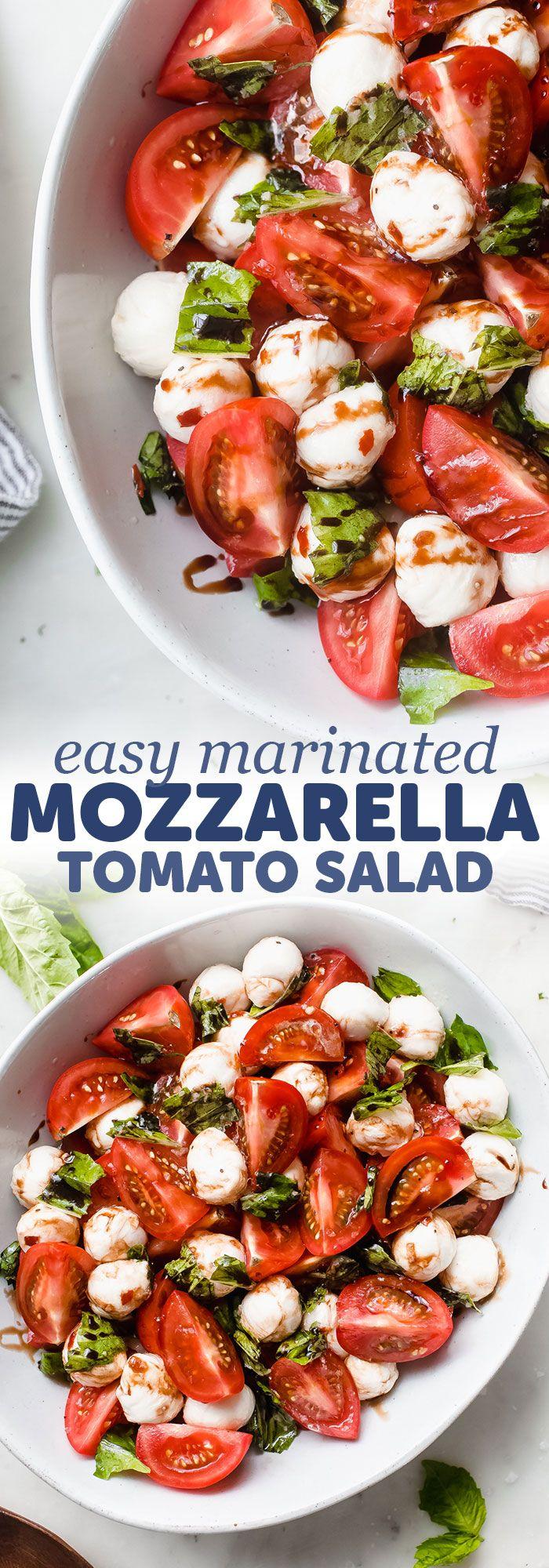 Marinated Mozzarella Tomato Salad