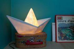 Goodnight Light PaperBoat Lamp White Nachtlicht #Nacht #Licht #Kinder #Kinderzimmer #Papierschiff #Galaxus
