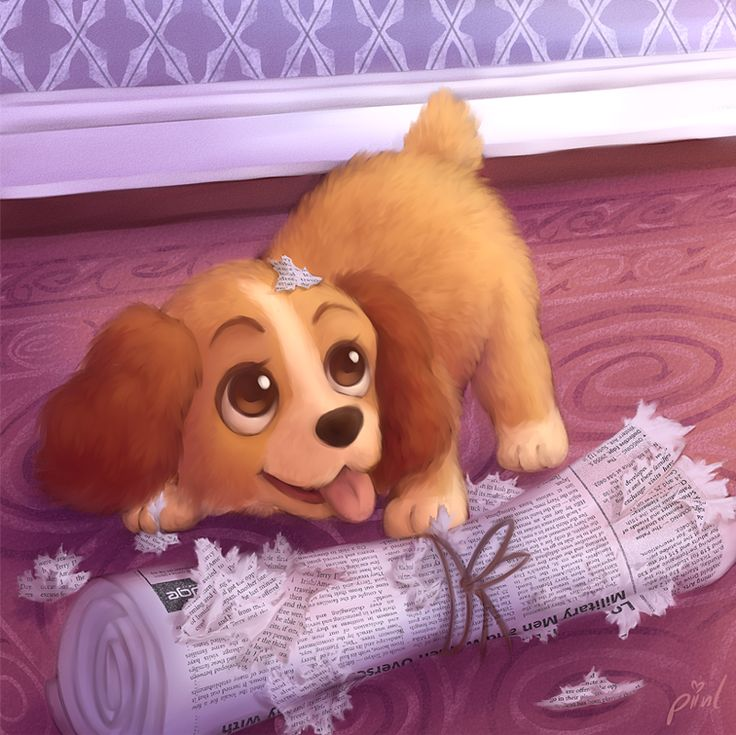 What a fine Lady by piinl from Lady and the Tramp Walt Disney movie animation. Cute puppy dog.