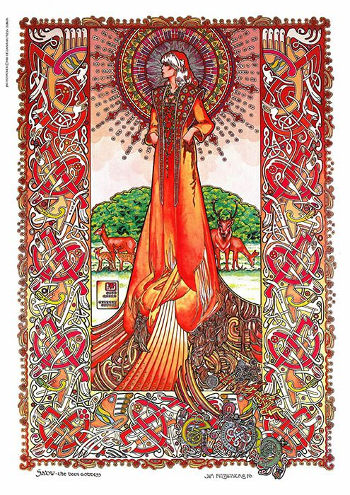 Sadv, the deer goddess by Jim Fitzpatrick