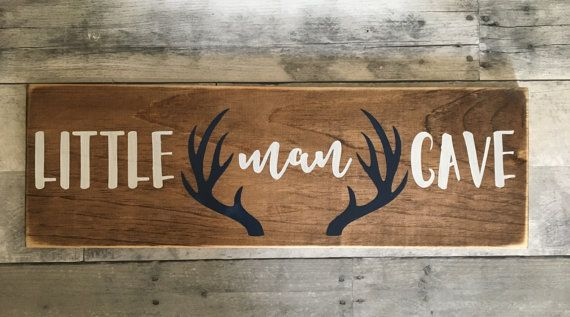 Little man cave Woodland nursery decor rustic by DoodlesbyTrista