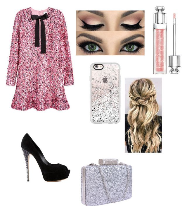 """""""Sparkles"""" by arcarmona-ac ❤ liked on Polyvore featuring H&M, Casadei, Christian Dior and Casetify"""