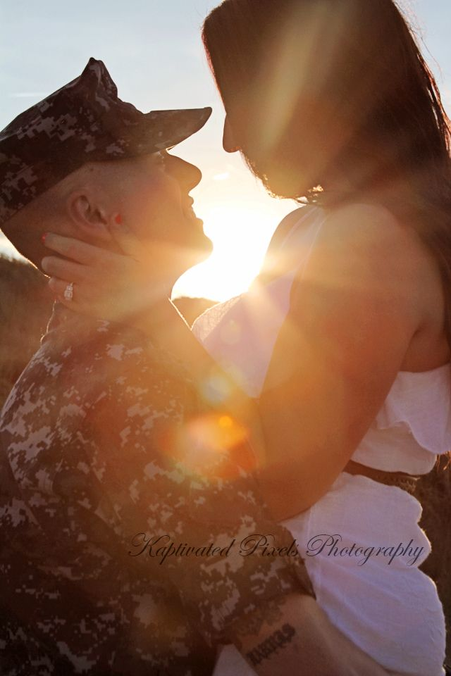 Sunset Military Couples Photography by KayLa Ocasio