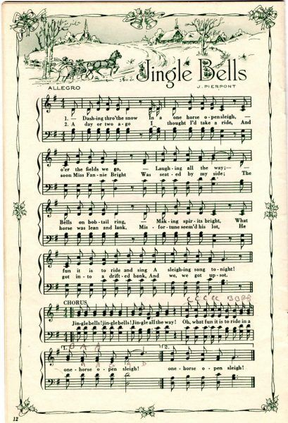 Remodelaholic | 25+ Free Printable Vintage Christmas Sheet Music; Day 10