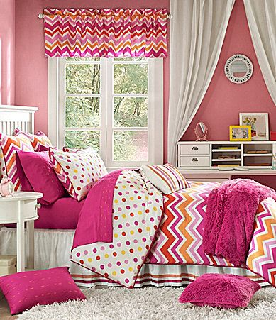 Studio D Zoe Pink and Orange Bedding Collection #Dillards...for madelyn