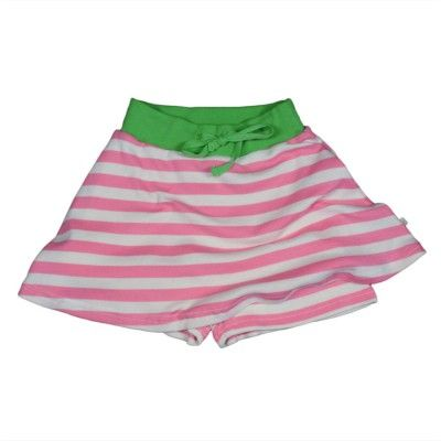 Frugi Ανοιξιάτικη Φουστίτσα από 100% Οργανικό Βαμβάκι Ροζ Ριγέ - Sunnyside