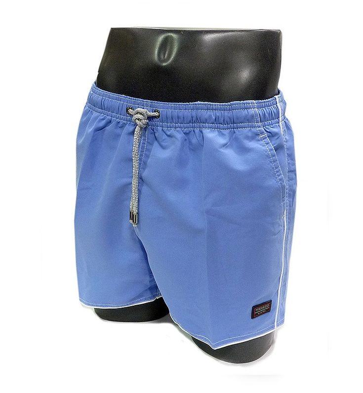 Bañador para hombre de Massana. Nuevo modelo, colores de moda 2017, secado rapido y liso en color azul. Más modelos nuevos de temporada en www.varelaintimo.com