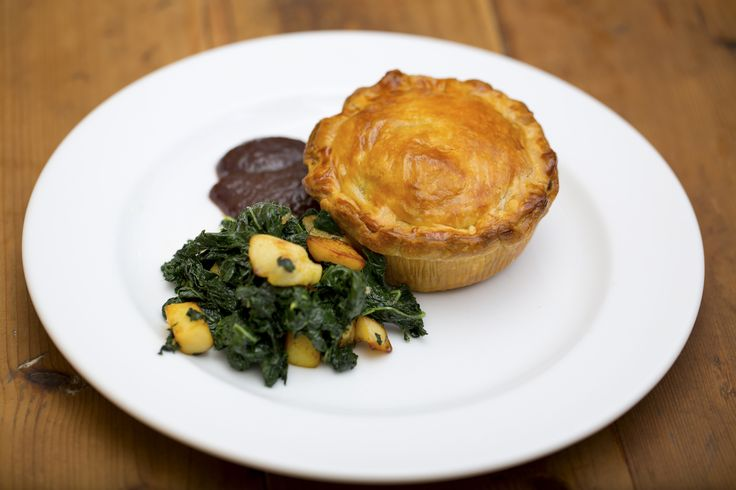 Coorong Angus Beef and Red Wine Pie with Cavolo Nero and Quince - Maggie Beer