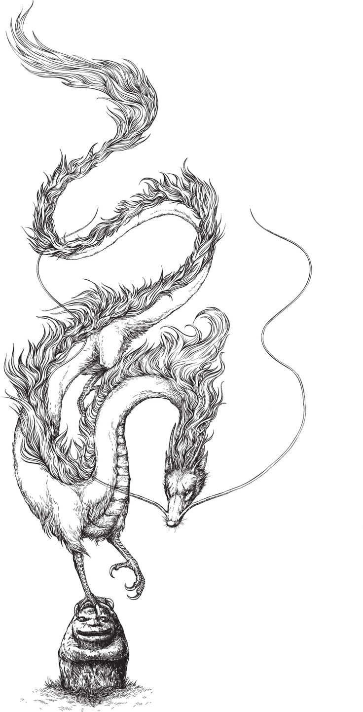 Tribute to Ghibli / Spirited Away on Behance - If I ever got a dragon tattoo, it'd be Haku