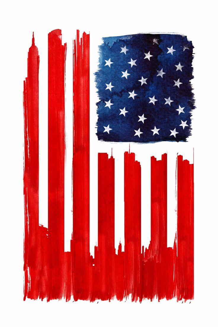 Nous aimons beaucoup Stars and Buildings de Robert Farkas. The « Star spangled banner » est revisité par Robert Farkas. Ce drapeau original a vu ses rayures remplacées par les gratte-ciels de New York. L'empire State Building, le Chrisler Building… c'est tout le rêve américain dans cette image. Et oui, Oncle Sam a aussi un côté arty. Cette peinture rouge un peu sanguinolente nous rappelle néanmoins les côtés les plus sombres des Etats-Unis. On offrirait bien cette œuvre à notre frère, qui…