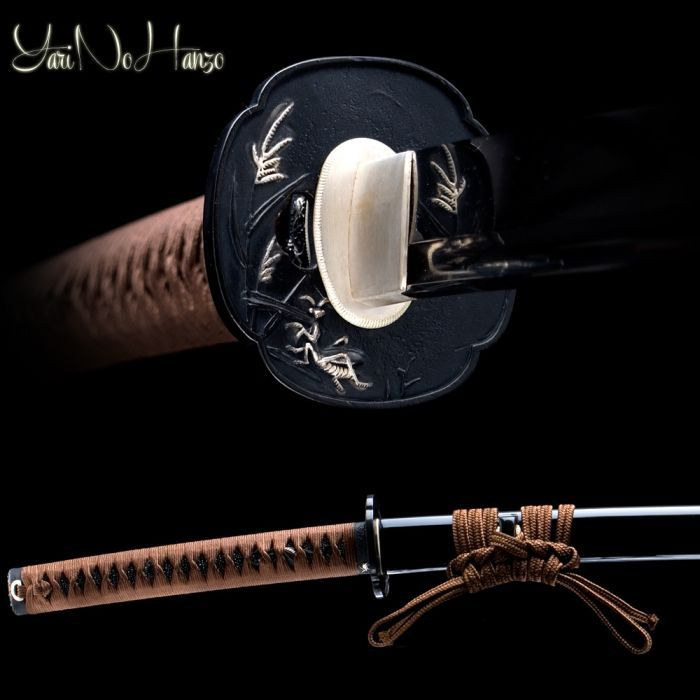Kamakiri - Praying mantis katana by YariNoHanzo. Clay tempered 1095 high carbon steel blade with bo-hi, real hamon.