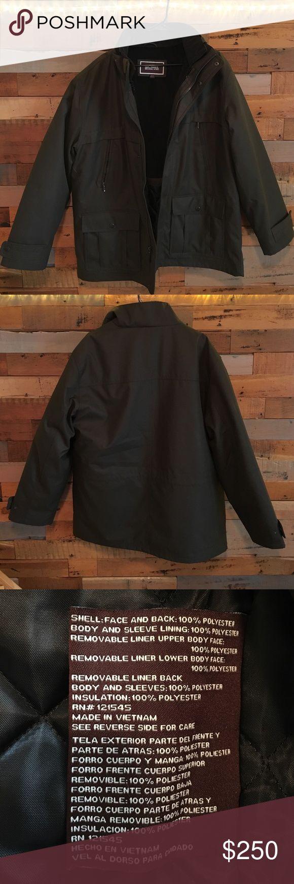 Michael Kors Men's Jacket Very heavy beautiful designer Men's jacket. Has only been worn one time so it is in perfect condition. ZERO FLAWS. MICHAEL Michael Kors Jackets & Coats