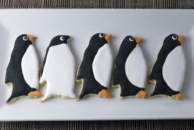 Penguin Party cookies:: black, white, orange