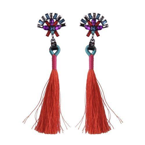 BOHO JEWEL TASSEL EARRINGS (RED)  www.minimalistjewellery.com.au    #minimalistjewelry #minimalistjewellery #minimalist #jewellery #jewelry  #jewelleries #jewelries #minimalistaccessories #bangles #bracelets #rings  #necklace #earrings #womensaccessories