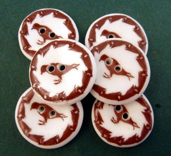 ONE Fused Glass Bird Focal Button.  Handmade by buttonsbyrobin2, $4.50