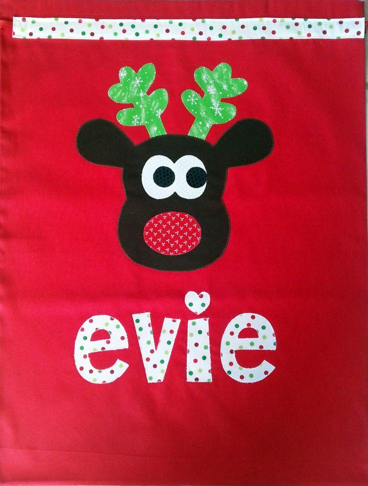 Personalised Santa Sacks - pinned by pin4etsy.com