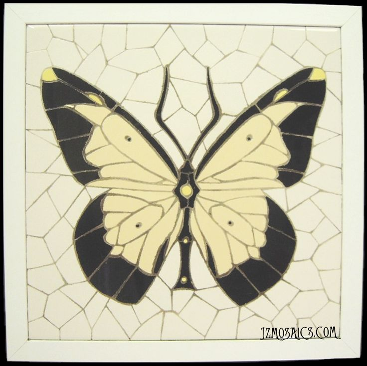 Mosaico en trencadís.  (30 x 30 cm). Piezas únicas, trabajadas totalmente a mano.