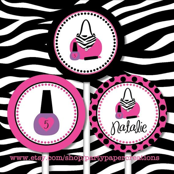 Glamour Girl Birthday Diva Personalized by partypapercreations, $4.95