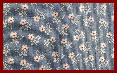 Tessuto fiorellini sfondo blu