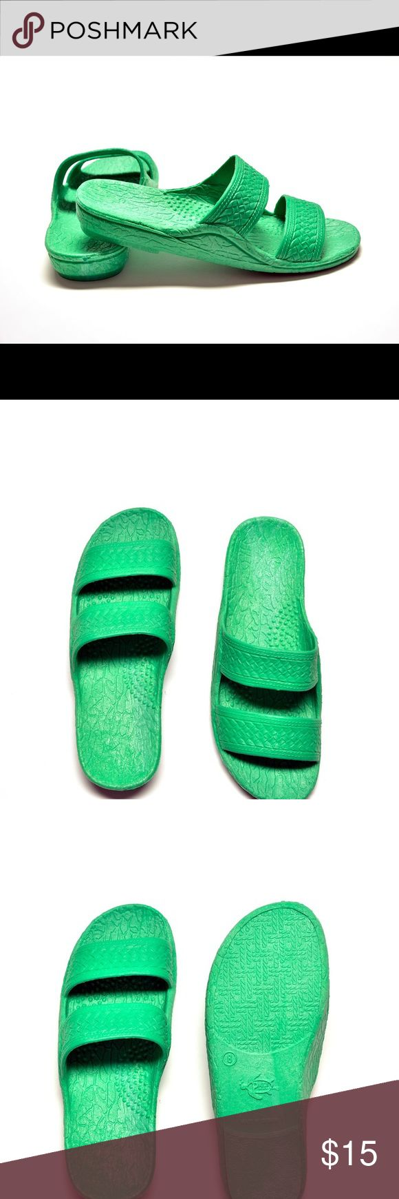 NWT Authentic Original Pali Hawaii Jesus Sandals Brand New Pali Hawaii Jesus Sandals in Spring Green.  Super comfy!  Best shoes you will ever wear!! Shoes Sandals